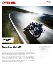 2010 Yamaha YZF1000R1 Factsheet Catalog page 1