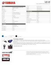 2010 Yamaha YZF1000R1 Factsheet Catalog, 2010 page 4